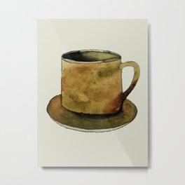 Mug on Plate Metal Print