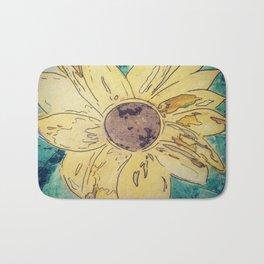 Sunflower madness Bath Mat