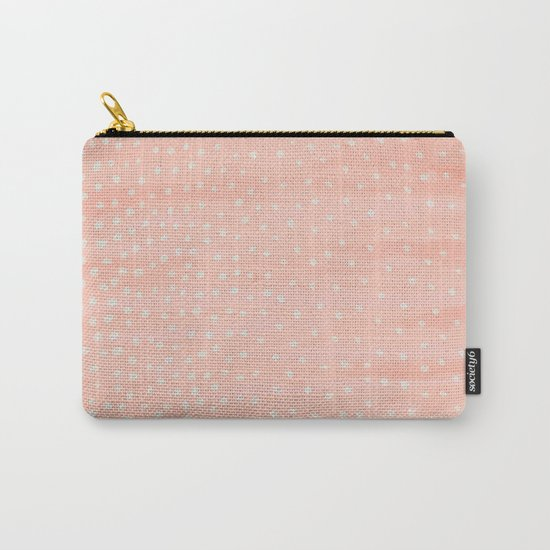 Beige Dots Carry-All Pouch