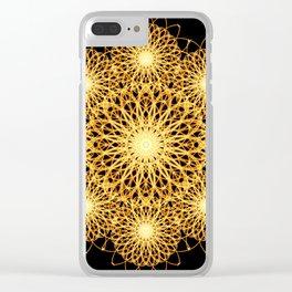 Sparks Mandala Clear iPhone Case