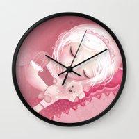 sleep Wall Clocks featuring Sleep by Diana_Amaral