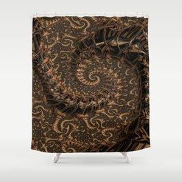 Gold Mine Spiral Shower Curtain