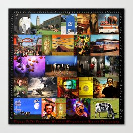 Voyage To The Fantastic World Of Wingsdomain Art And Photography 20150108 with text square Canvas Print