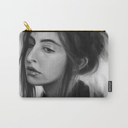 Gloom // Black and White Portrait Carry-All Pouch