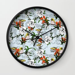 The Birds of Paradise and the Paisley Garden Wall Clock