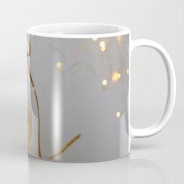 Golden Christmas Ball with Small Lights Coffee Mug