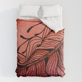 Doodled Autumn Feather 01 Comforters