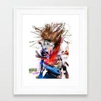 lara croft Framed Art Prints featuring miss lara croft by yossikotler