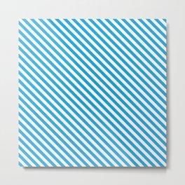 Oktoberfest Bavarian Blue and White Small Candy Cane Stripes Metal Print