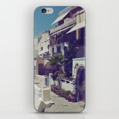 Streets of Santorini I  iPhone & iPod Skin