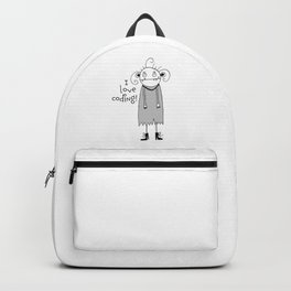 Cute zombie illustration Backpack