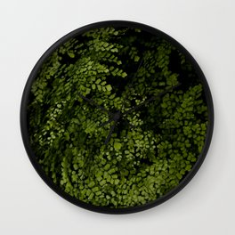 Small leaves Wall Clock