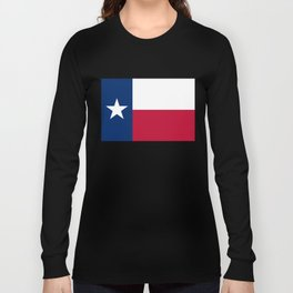 Texas State Flag, Authentic Version Long Sleeve T-shirt