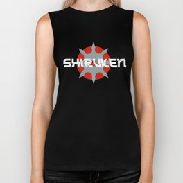 Shiruken Throwing Stars Ninjutsu Martial Artist Biker Tank