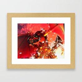 Fire Dragon Framed Art Print