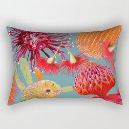 Aussie Beauties on steel blue Rectangular Pillow