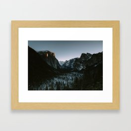Yosemite Valley Sunrise Framed Art Print