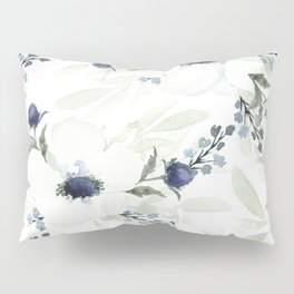 Watercolor Anemone and Thistle Pillow Sham