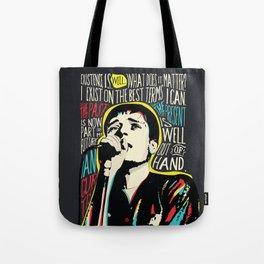 Ian Curtis Pop Art Quote / Joy Division Tote Bag
