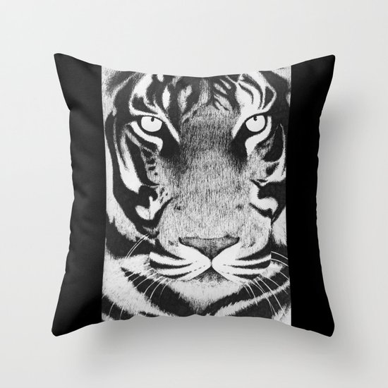 Be a Tiger Throw Pillow