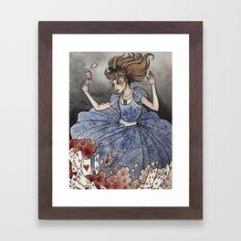 Alice in Wonderland art print Framed Art Print