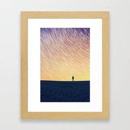Star Trail (The Man On The Hill) Framed Art Print