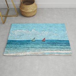 Sailboats Seascape Rug