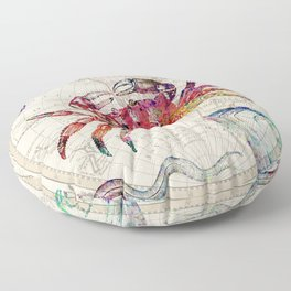 vintage sea life Floor Pillow