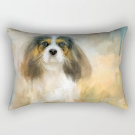 The Attentive Cavalier Rectangular Pillow