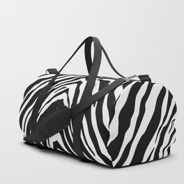 Zebra Stripes in Black and White Duffle Bag