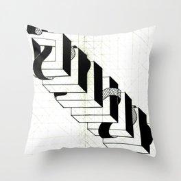ribbon tower Throw Pillow