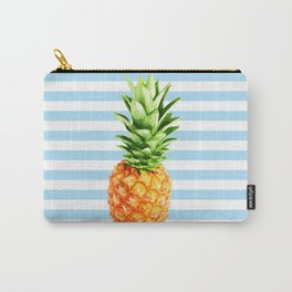 Pineapple, blue stripes, Pineapple Poster, Summer poster Carry-All Pouch