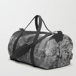 Zion Park View in B&W Duffle Bag