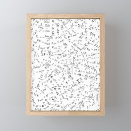 Equation Overload II Framed Mini Art Print