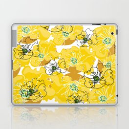 yellow marzipan flowers Laptop & iPad Skin