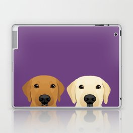 Tan Lab & Yellow Lab Laptop & iPad Skin