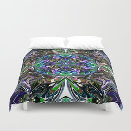 Center Of Attention - Rainbow Collection Duvet Cover