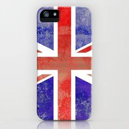 Grunge Union Jack Flag iPhone Case
