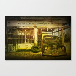 We take Better Care of Your Car Canvas Print