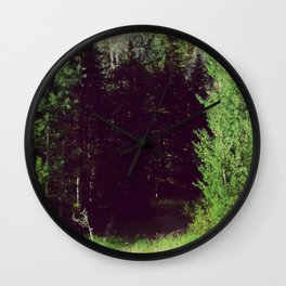 Venturing through Darkness Wall Clock
