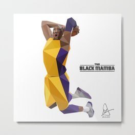 The Black Mamba Metal Print