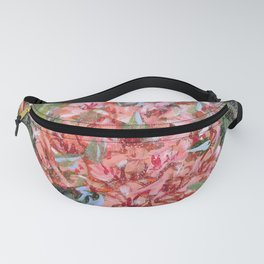 LET LIFE BE PASSIONATE LIKE SUMMER BOUGAINVILLEA-Original floral painting by HSIN LIN Fanny Pack