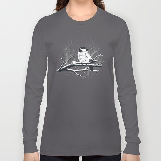 North For The Winter (Gray). Long Sleeve T-shirt