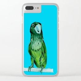 neon bird Clear iPhone Case