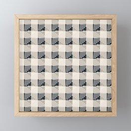 ANTHOLOGY OF PATTERN SEVILLE GINGHAM BLACK Framed Mini Art Print