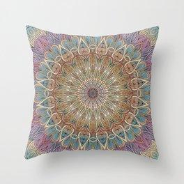 Gentle Touch Mandala Art Throw Pillow