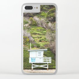 California Lifeguard Clear iPhone Case