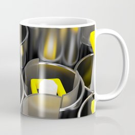 Metal tubes, hexagons and glass Coffee Mug