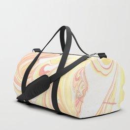 Golden Hour Marble Retro Print Duffle Bag