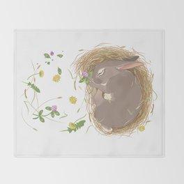 Night-night Bunny Throw Blanket